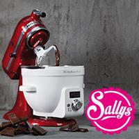 Sally Paket 4 KitchenAid + Beheizte Rührschüssel + Flexi-Rührer + 3 L Edelstahl-Schüssel