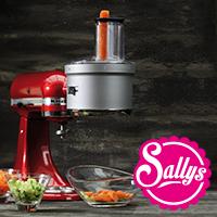 Sally Paket 1 KitchenAid + Food Processor Vorsatz + Flexi-Rührer + 3 L Edelstahl-Schüssel