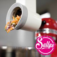 Sally Paket 3 KitchenAid + Gemüseschneider + Spiralschneider + Flexi-Rührer + 3 L Edelstahl-Schüssel