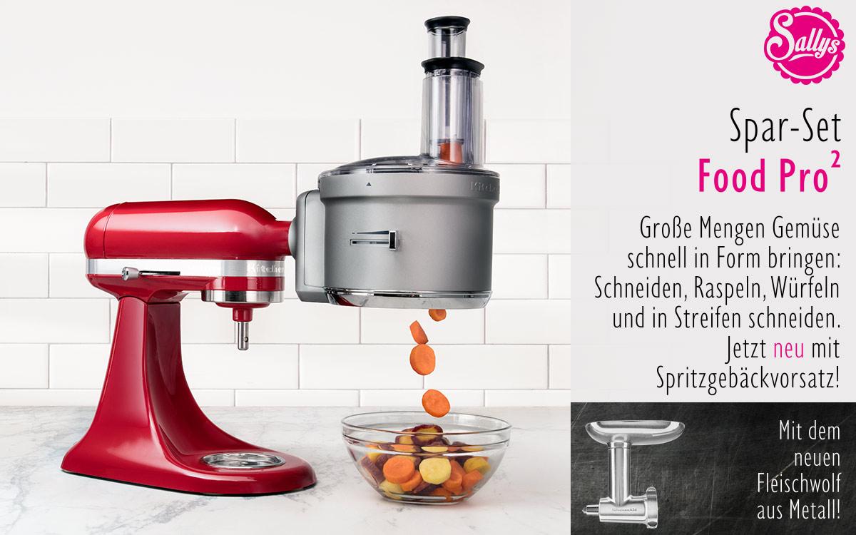 kitchenaid artisan set food processor metall fleischwolf. Black Bedroom Furniture Sets. Home Design Ideas