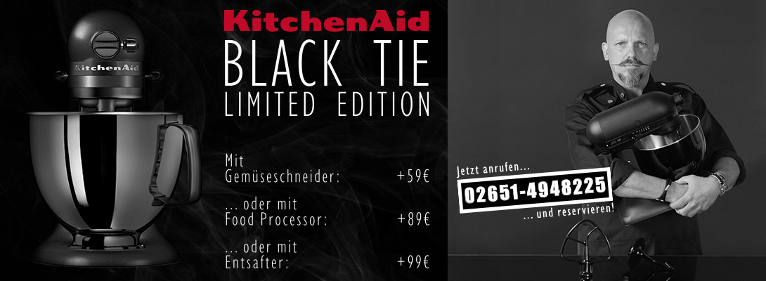 Artisan Küchenmaschine Limited Edition Black Tie von KitchenAid