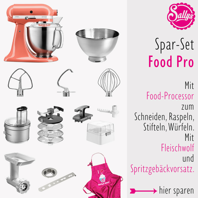 KitchenAid Artisan Set Edelstahl Food Processor