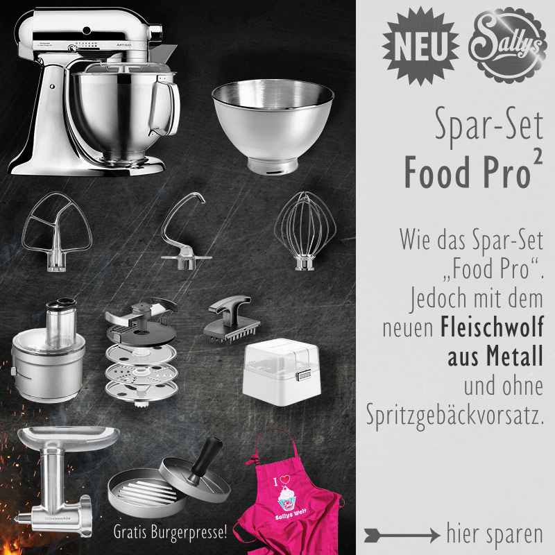 KitchenAid Artisan Set Food Processor Fleischwolf Metall