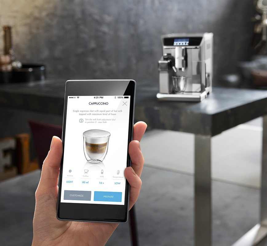 delonghi kaffeevollautomat mit touchscreen primadonna elite ecam. Black Bedroom Furniture Sets. Home Design Ideas
