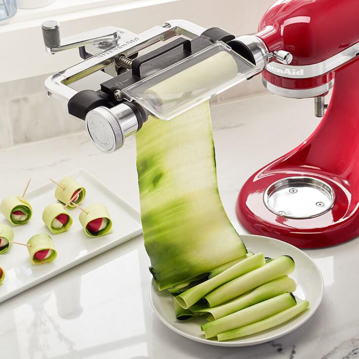 kitchenaid vegetable sheet cutter. original zubehör kitchenaid - vegetable sheet cutter / obst- und gemüseblattschneider ksmsca kitchenaid