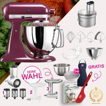 KitchenAid Artisan 4,8 Liter KSM175 Spar-Set mit Food...