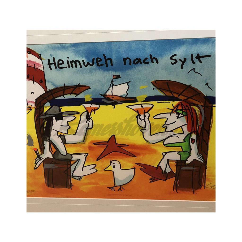 Udo Lindenberg Original Siebdruck Heimweh Nach Sylt Handsigniert