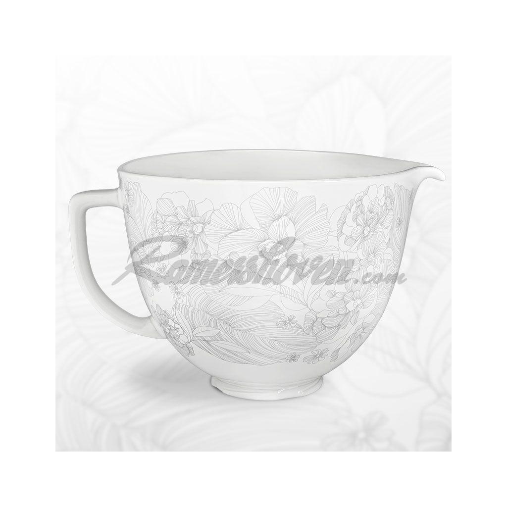Kitchenaid Keramiksch 252 Ssel Wei 223 Mit Blumenmuster