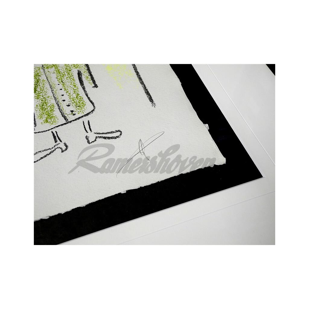 84b7b763b4d922 Helge Schneider - Original Kohlezeichnung
