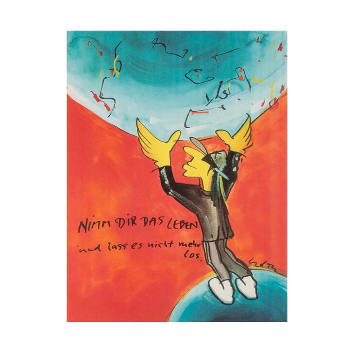 Udo Lindenberg Original Farblithografie Nimm Dir Das Leben
