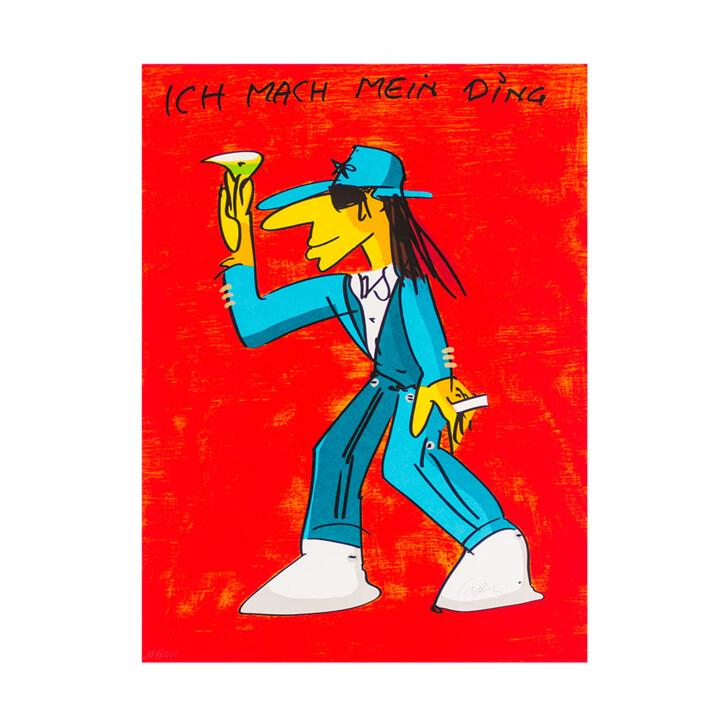 Udo Lindenberg Original Farblithografie Ich Mach Mein Ding